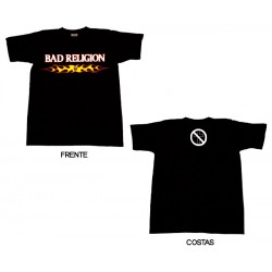 Bad Religion - T-Shirt - Flaming Logo