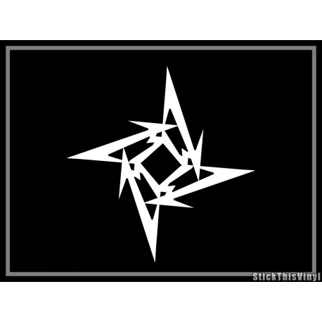 Metallica - Autocolante - Star Ninja