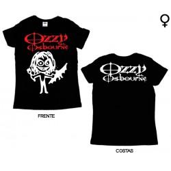 Ozzy Osbourne - T-Shirt de Mulher - Cartoon Bat