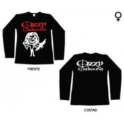 Ozzy Osbourne - Long Sleeve de Mulher - Cartoon Bat