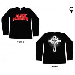 Black Sabbath - Long Sleeve de Mulher - Logo