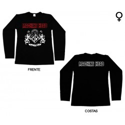 Machine Head - Long Sleeve de Mulher - Crest