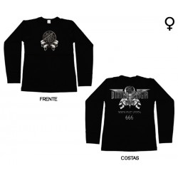 Dimmu Borgir - Long Sleeve de Mulher - Death Cult Legion 666