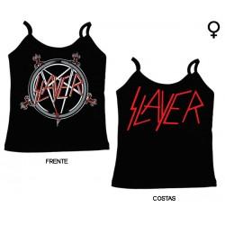Slayer - Top de Mulher - Logo