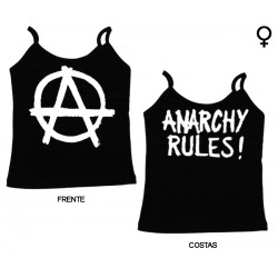 Anarchy Rules - Top de Mulher - Logo