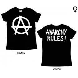 Anarchy Rules - T-Shirt de Mulher - Logo