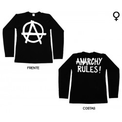 Anarchy Rules - Long Sleeve de Mulher - Logo