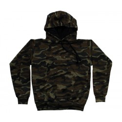 Sweat Shirt com Carapuço Camuflada