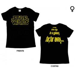 Star Wars - T-Shirt de Mulher - A Long Time Ago in a Galaxy...