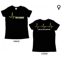 Type 0 Negative - T-Shirt de Mulher - Life is Killing Me