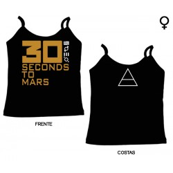 30 Seconds To Mars - Top de Mulher - Logo