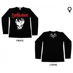 Destruction - Long Sleeve de Mulher - Skull