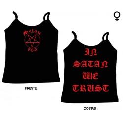Satan 666 - Top de Mulher - In Satan We Trust