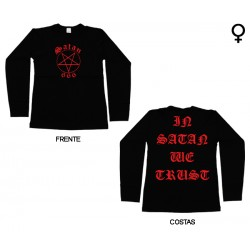 Satan 666 - Long Sleeve de Mulher - In Satan We Trust