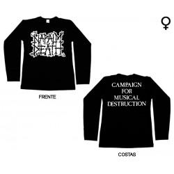 Napalm Death - Long Sleeve de Mulher - Scum Logo