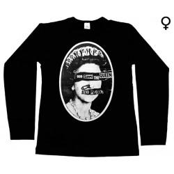 Sex Pistols - Long Sleeve de Mulher - God Save The Queen