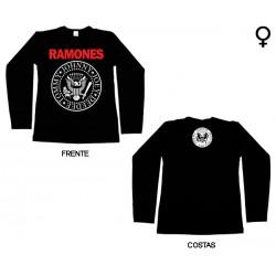 Ramones - Long Sleeve de Mulher - Logo