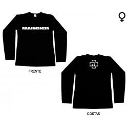 Rammstein - Long Sleeve de Mulher - Logo