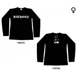 Bathory - Long Sleeve de Mulher - Logo