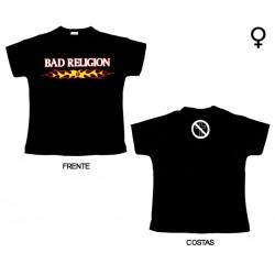 Bad Religion - T-Shirt de Mulher - Flaming Logo