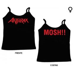 Anthrax - Top de Mulher - Logo