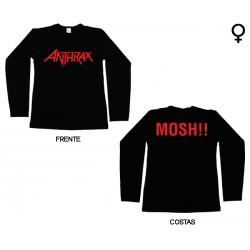 Anthrax - Long Sleeve de Mulher - Logo