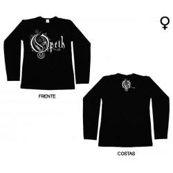 Opeth - Long Sleeve de Mulher - Logo