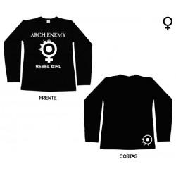 Arch Enemy - Long Sleeve de Mulher - Rebel Girl