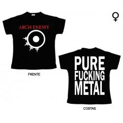 Arch Enemy - T-Shirt de Mulher - Logo/Pure Fucking Metal