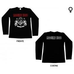 Machine Head - Long Sleeve de Mulher - Crest