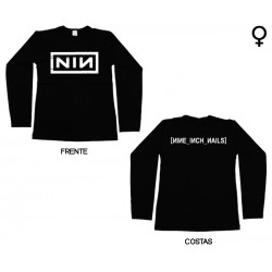 Nine Inch Nails - Long Sleeve de Mulher - Logo