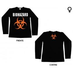Biohazard - Long Sleeve de Mulher - Logo