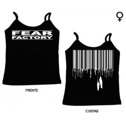 Fear Factory - Top de Mulher - Bar Logo