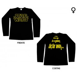 Star Wars - Long Sleeve de Mulher - A Long Time Ago in a Galaxy...