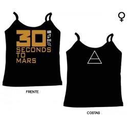 30 Seconds To Mars - Top de Mulher - Logo
