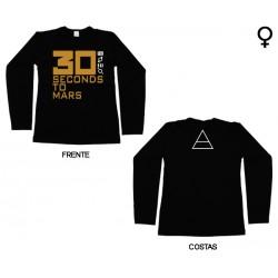 30 Seconds To Mars - Long Sleeve de Mulher - Logo