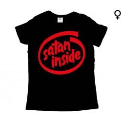 Intel - T-Shirt de Mulher - Satan Inside