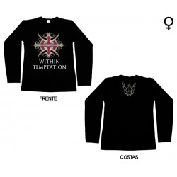 Within Temptation - Long Sleeve de Mulher - Logo