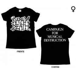 Napalm Death - T-Shirt de Mulher - Scum Logo