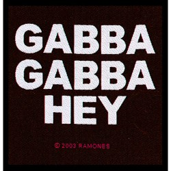 Ramones - Patch - Gabba Gabba Hey