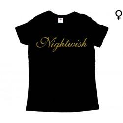 Nightwish - T-Shirt de Mulher - Gold Logo