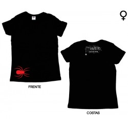 The Web Fashion - T-Shirt de Mulher - Red Spider