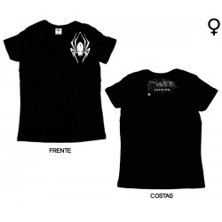 The Web Fashion - T-Shirt de Mulher - White Spider