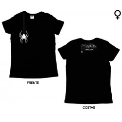 The Web Fashion - T-Shirt de Mulher - Hang Spider