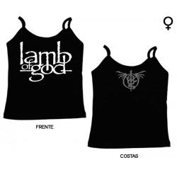 Lamb of God - Top de Mulher - Logo