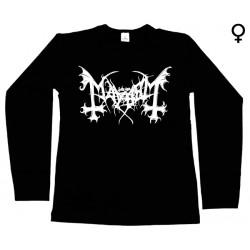 Mayhem - Long Sleeve de Mulher - Logo