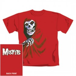 Misfits - T-Shirt - All Over Red Fiend