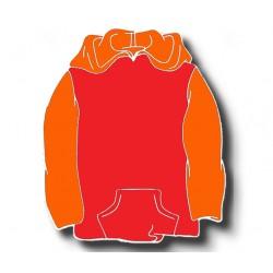 Sweat Shirts Carapuço e Bolso Canguru - Conjugação de Duas Cores