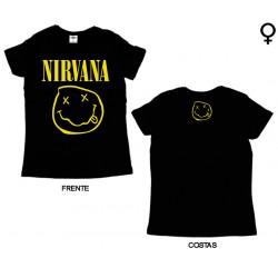 Nirvana - T-Shirt de Mulher - Smiley