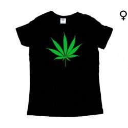 Cannabis - T-Shirt de Mulher - Leaf